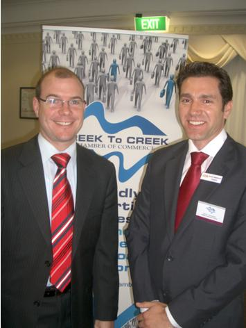 Queensland Treasurer Andrew Fraser MP with Darren Mackintosh
