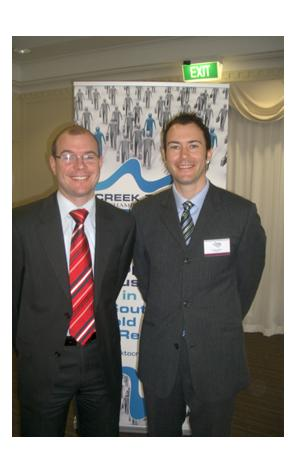 Andrew Fraser MP with Gordon Watson